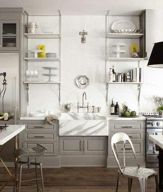 grey & white kitchen