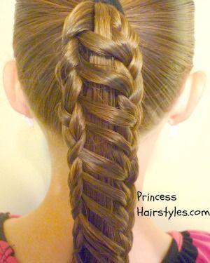 stripe braid ponytail tutorial