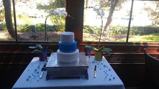 Blue/Silver wedding cake