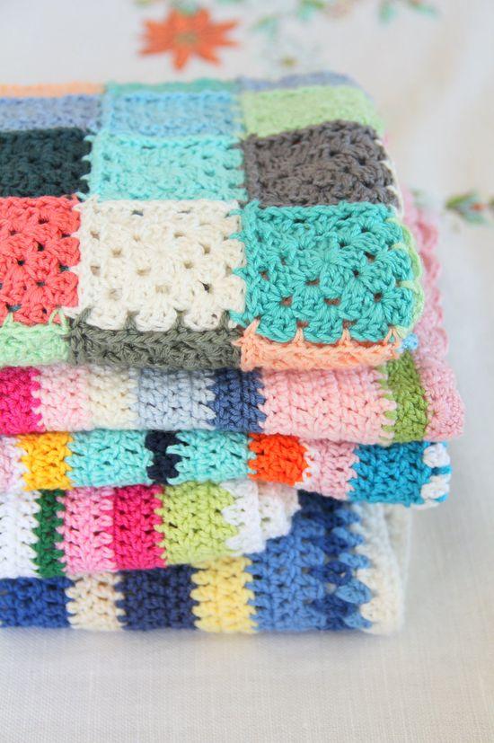 colorful crochet blankets
