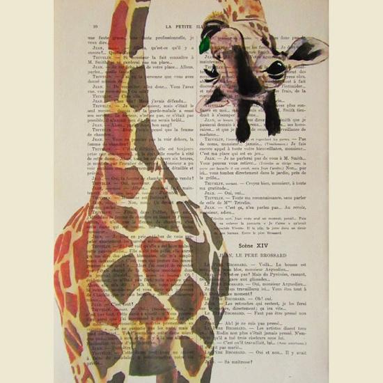 Giraffe artwork