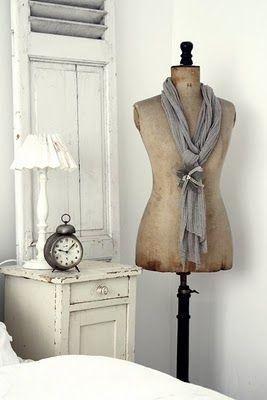 dress form in guest bedroom