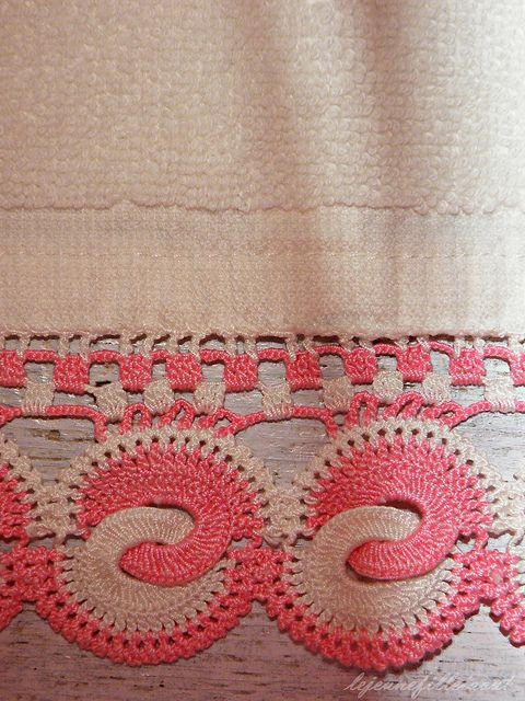 Crocheted border #crochet