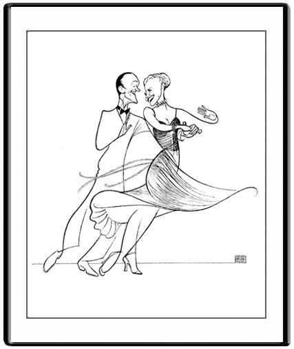 Fred Astaire and Ginger Rogers by Al Hirschfeld