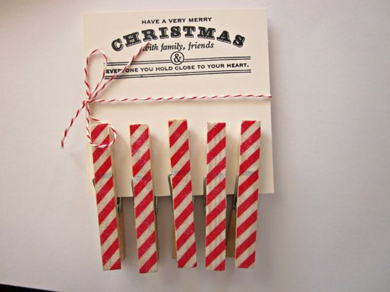 candy cane clothespins