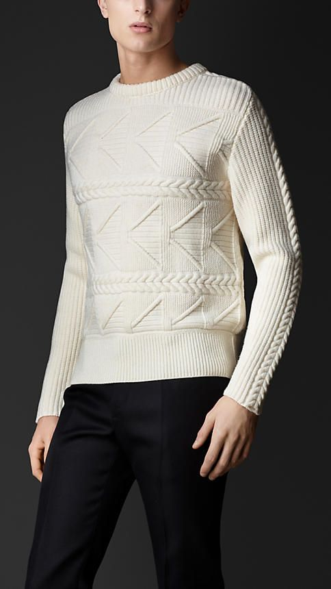 Burberry Prorsum Multistitch Cashmere Sweater.