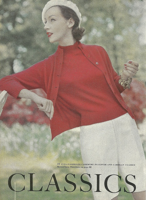 Classy 1950s sweater set and bermuda shorts summer ensemble. #vintage #1950s #summer #fashion #preppy