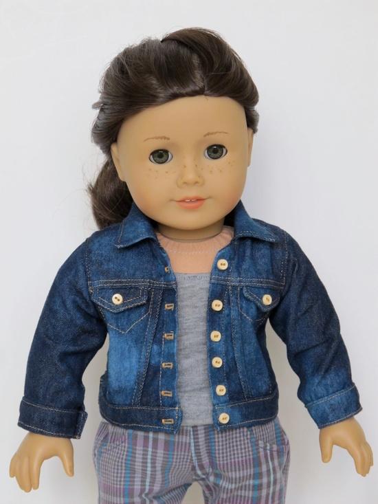 18 inch American Girl Doll Clothing Classic Denim Jacket. $32.50, via Etsy. made from the LJ Denim Jacket Pattern www.libertyjanepa...