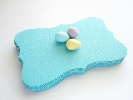 Lovely color! Aqua Blue Bracket Card $7.60