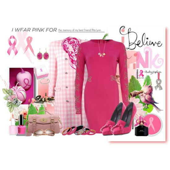 """""""I wear pink for the memory of my best friend Rita Lynn."""" by eula-eldridge-tolliver on Polyvore"""