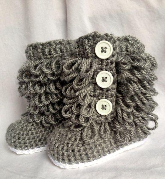 Baby Girl Ugg  Boots Crochet on Etsy,