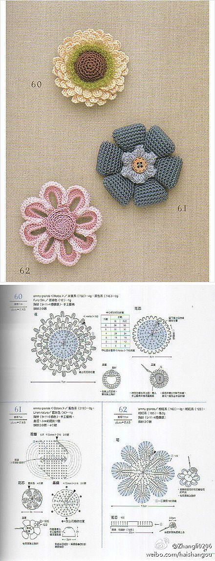 crochet flowers @Af'