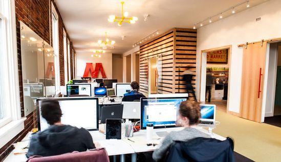 Mediacore office designed by Kyla Bidgood Interior Design as seen at SHINE awards 2013.
