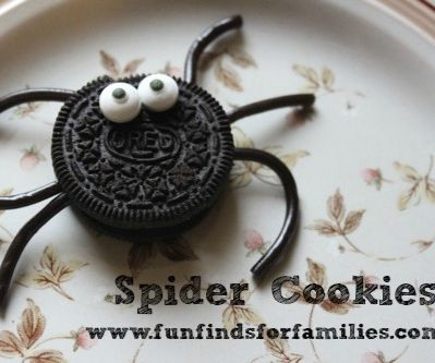 Spider Cookies and Spiderman Party ideas