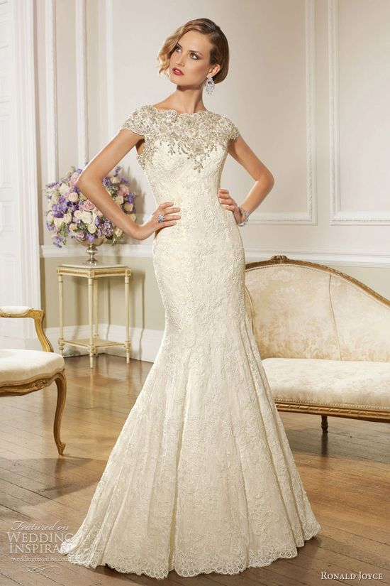 ronald joyce wedding dresses 2013 cap sleeve gown