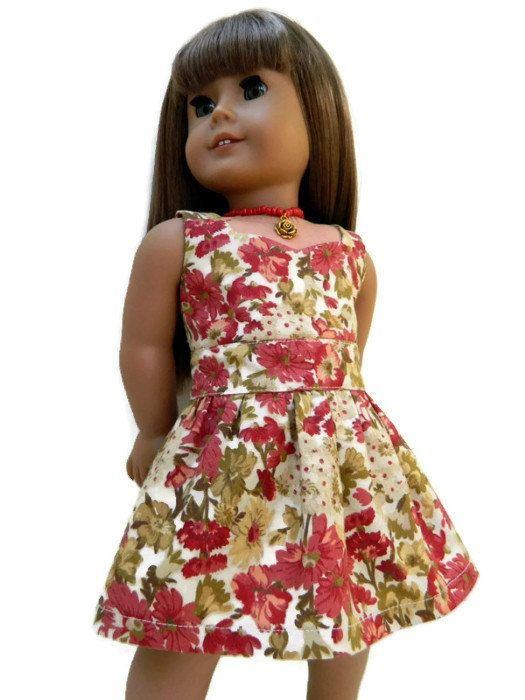 Love this modified version of the Liberty Jane Peplum Top Pattern (avilable at Pixie Faire)! -  Sweetheart Neckline Cotton Floral Print Dress by 18Boutique on Etsy