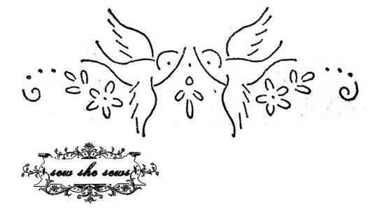 vintage love birds embroidery pattern by joomoolynn, via Flickr