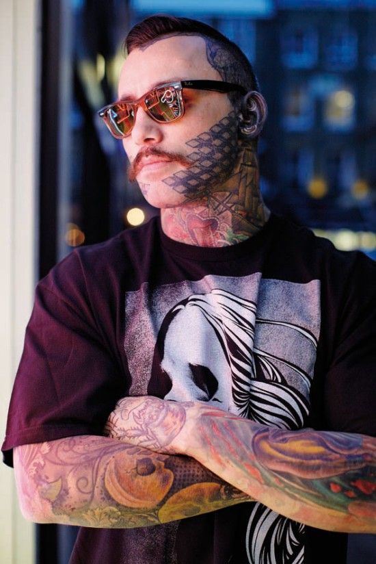 "Jay Reed. Anna Mazas photography "" Life under my skin "" #tattoo #pattern #neck #tat"