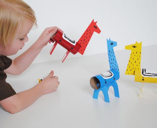 DIY Cardboard Lama Toys