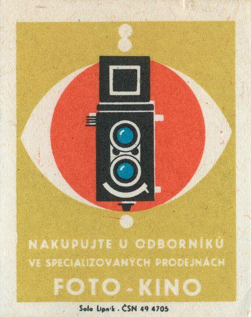 Foto - Kino. Czechoslovakian matchbox label Via Jane McDevitt aka maraid on Flickr