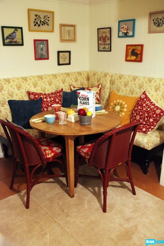 Who could resist a bowl of midnight cereal at this very British breakfast nook?