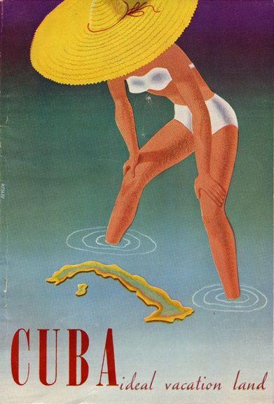 Cuba - Vintage Travel Poster