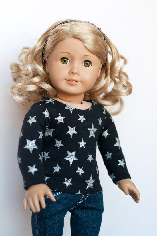 Cute tee made by Royal Doll Boutique using Liberty Jane Patterns