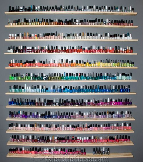 my goal in life is to have this much nail polish..