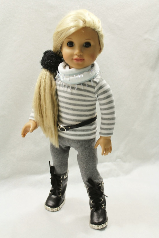 Long sleeved tee with leggings & boots and belt (all patterns available through Liberty Jane).