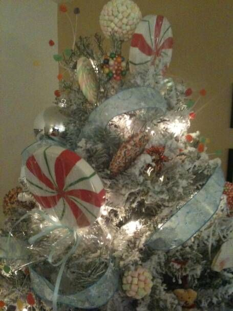 CandyLand Christmas Theme Tree Ideas