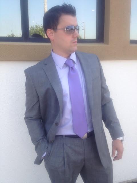 #men's #suit #purple #gray