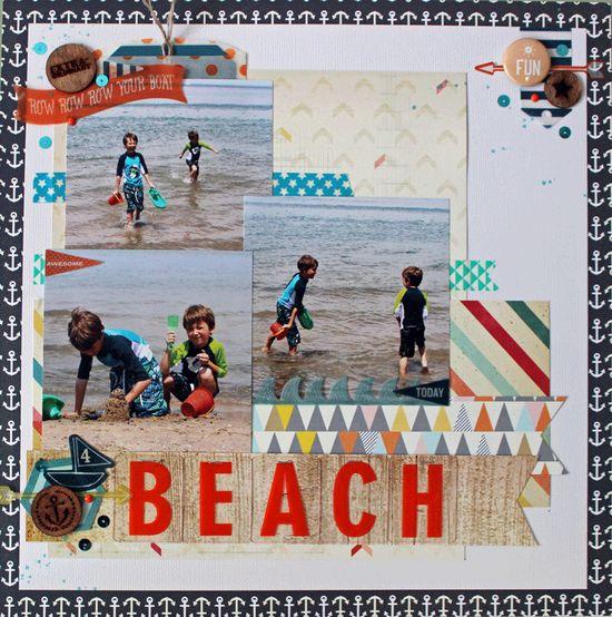 #papercraft #scrapbook #layout Beach - Scrapbook.com