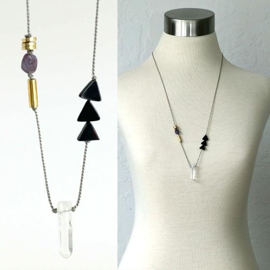 tiny triangles + crystal