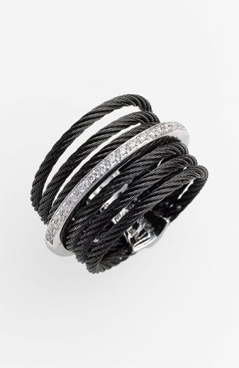Charriol 'Classique' 7-Row Cable & Diamond Ring