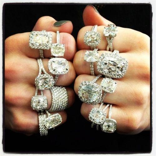 Diamond rings (vintage)