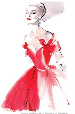 Fashion illustration by David Downton...