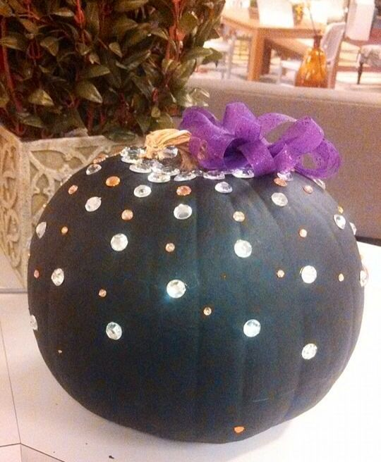Pumpkin decorating contest at work!! Handmade bow!!