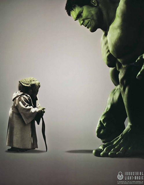 Green - ILM Ad Yoda vs Incredible Hulk