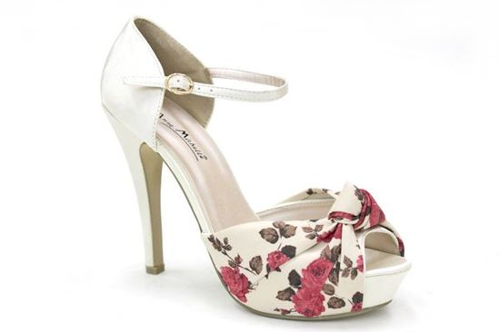 patterned shoes | Ever After Vintage Floral Wedding Shoes at Mr Shoes UK