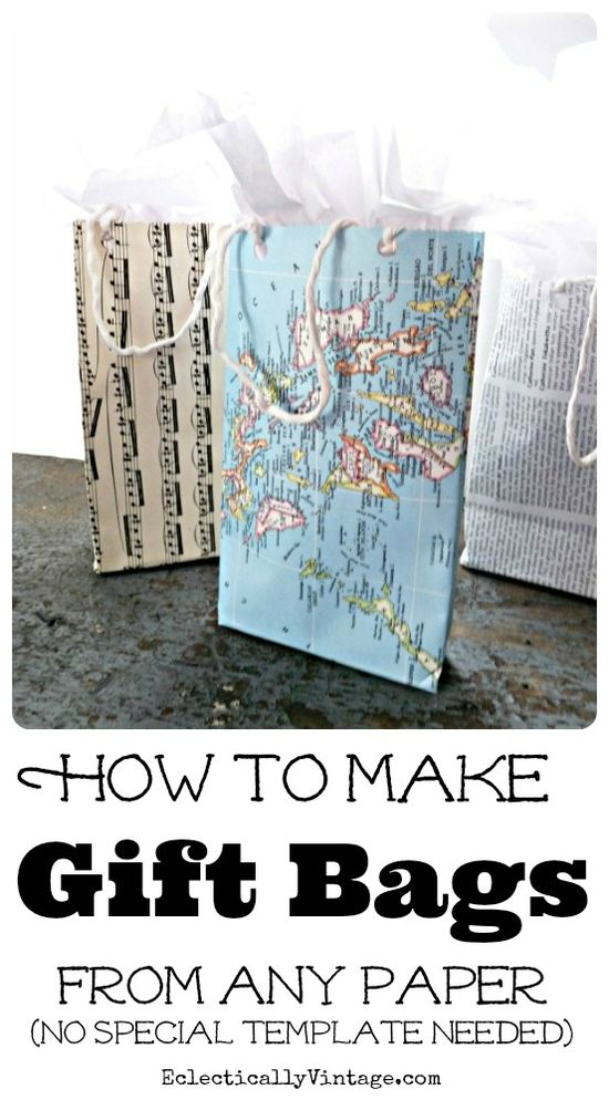 How to make gift bags from any paper!  eclecticallyvinta...