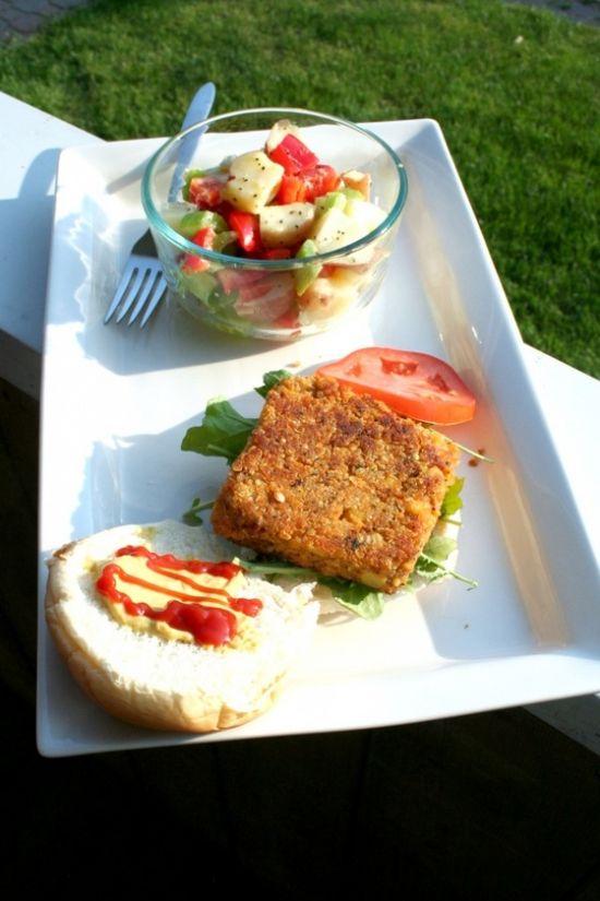 quinoa burgers & potato salad