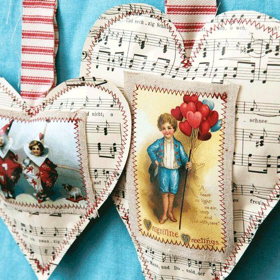 Valentine's Day ornaments.