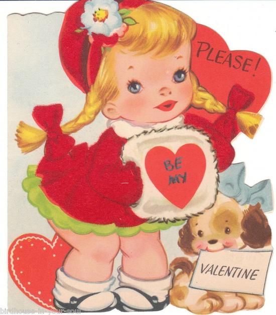 Please! Be My Valentine - Vintage Valentine