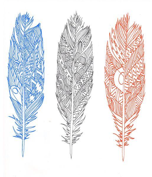 tattoo idea // patterned feathers