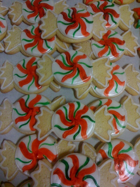 Christmas candy cookies.  Yes, we ship cookies!