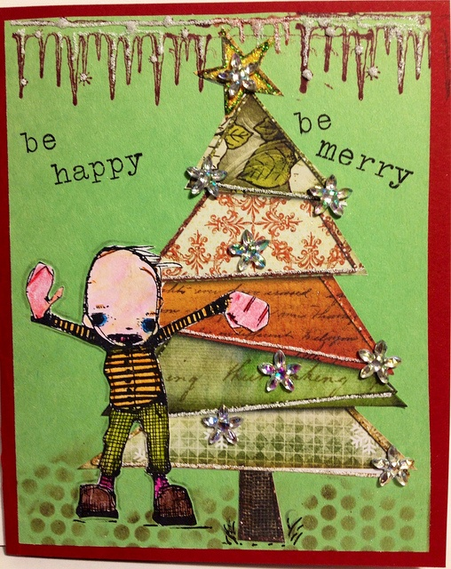 one of my recent Christmas cards I created