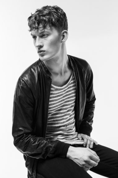 Leather jacket by Public school spring/summer 2013