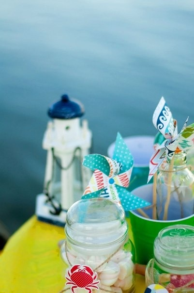 Decoration for baby's beach party