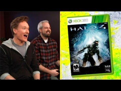 Conan Reviews Halo 4 Game - #funny #review