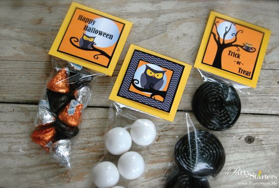 Really cute goodie bags for Halloween Parties.#Halloween, kids